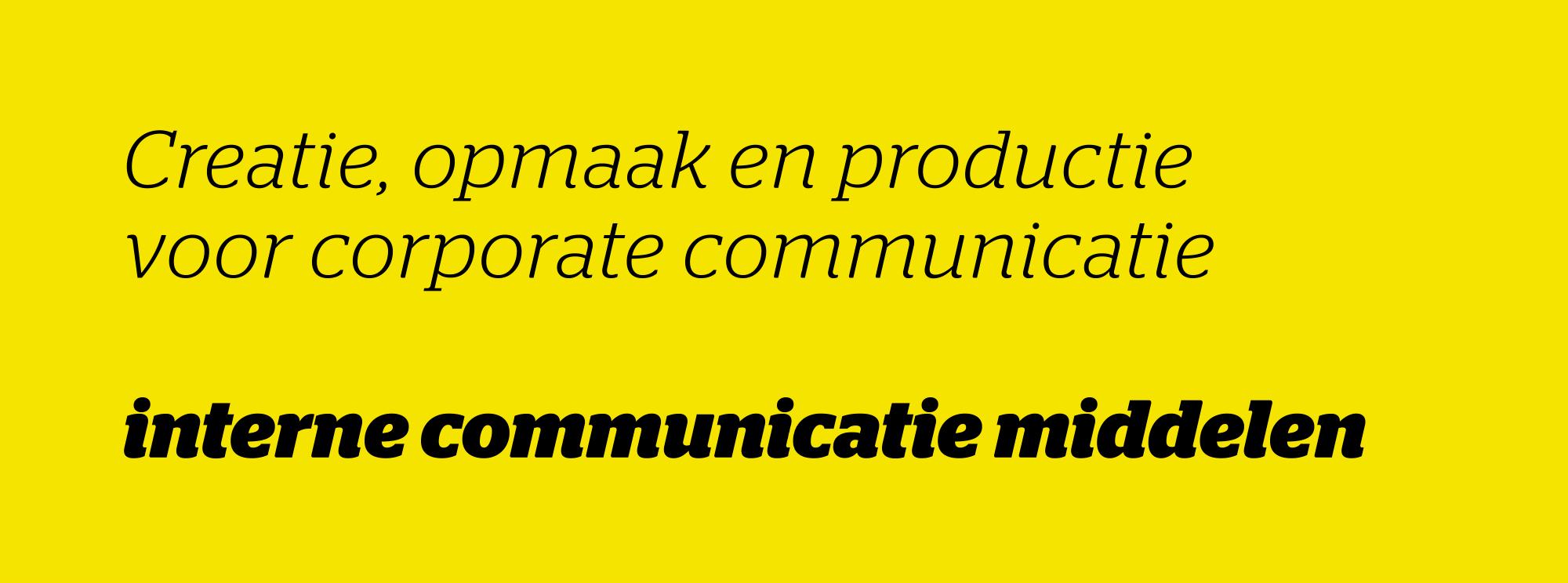 interne communicatie middelen